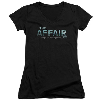 Affair Ocean Logo Juniors V-Neck T-Shirt