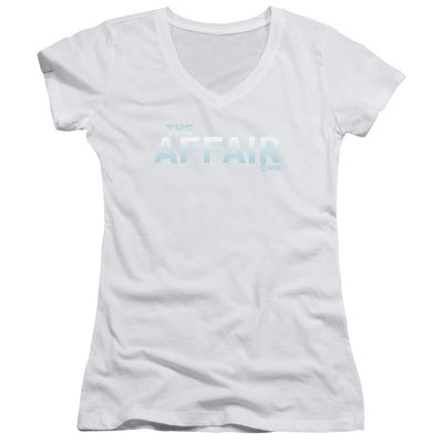 Affair Logo Juniors V-Neck T-Shirt