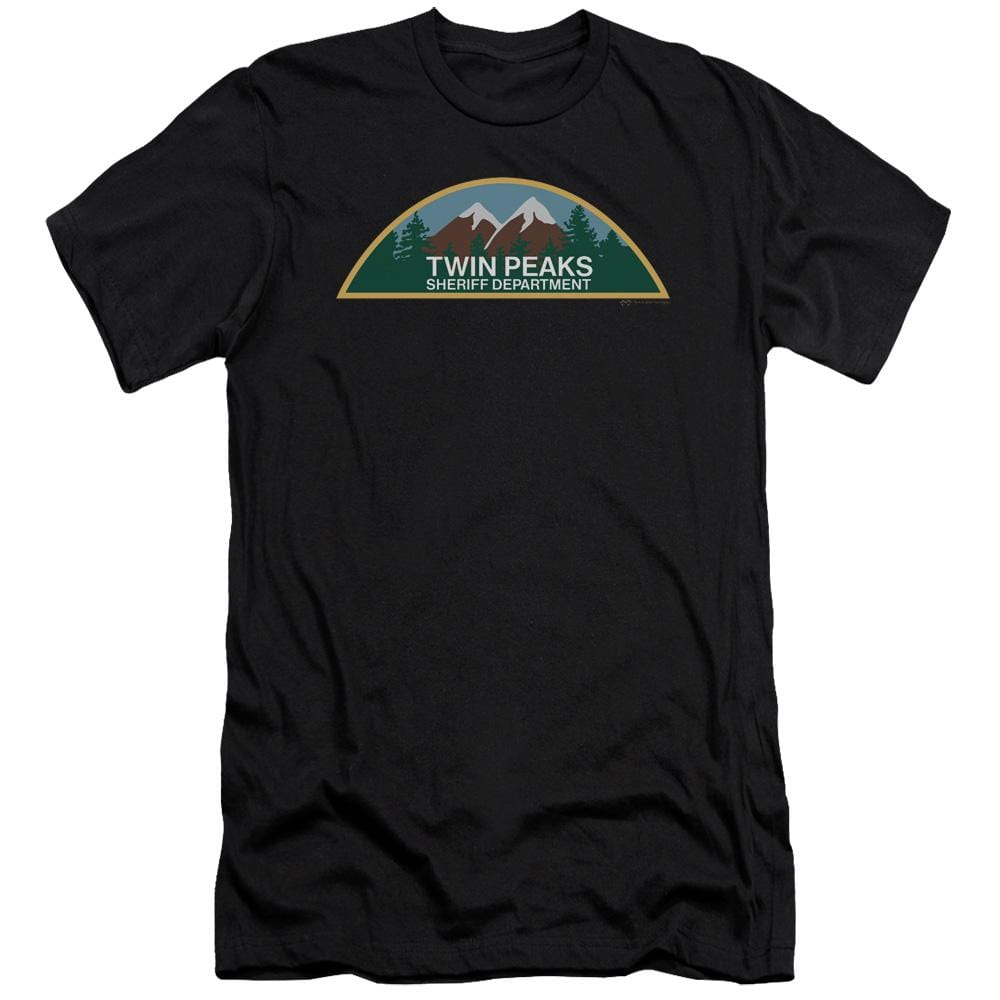 Twin Peaks Sheriff Department Premium Adult Slim Fit T-Shirt