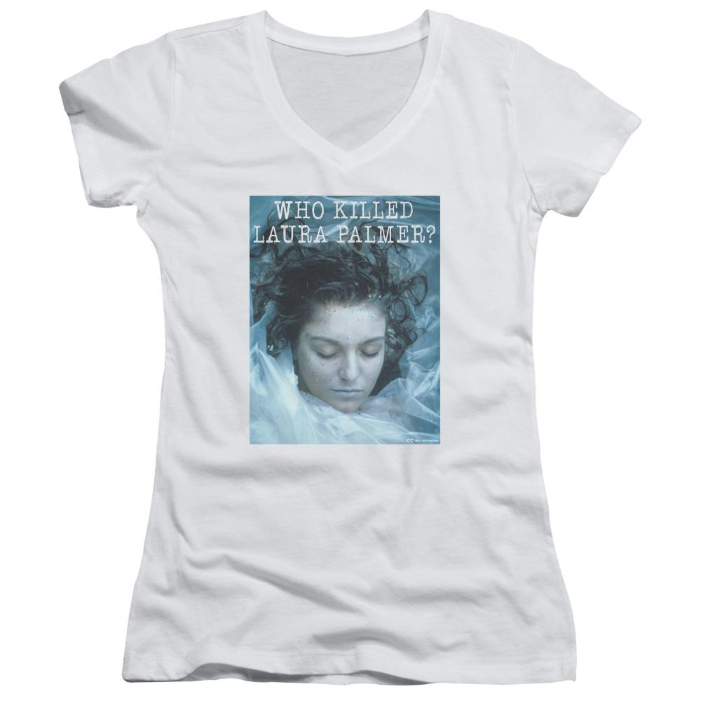 Twin Peaks Who Killed Laura Junior V-Neck T-Shirt