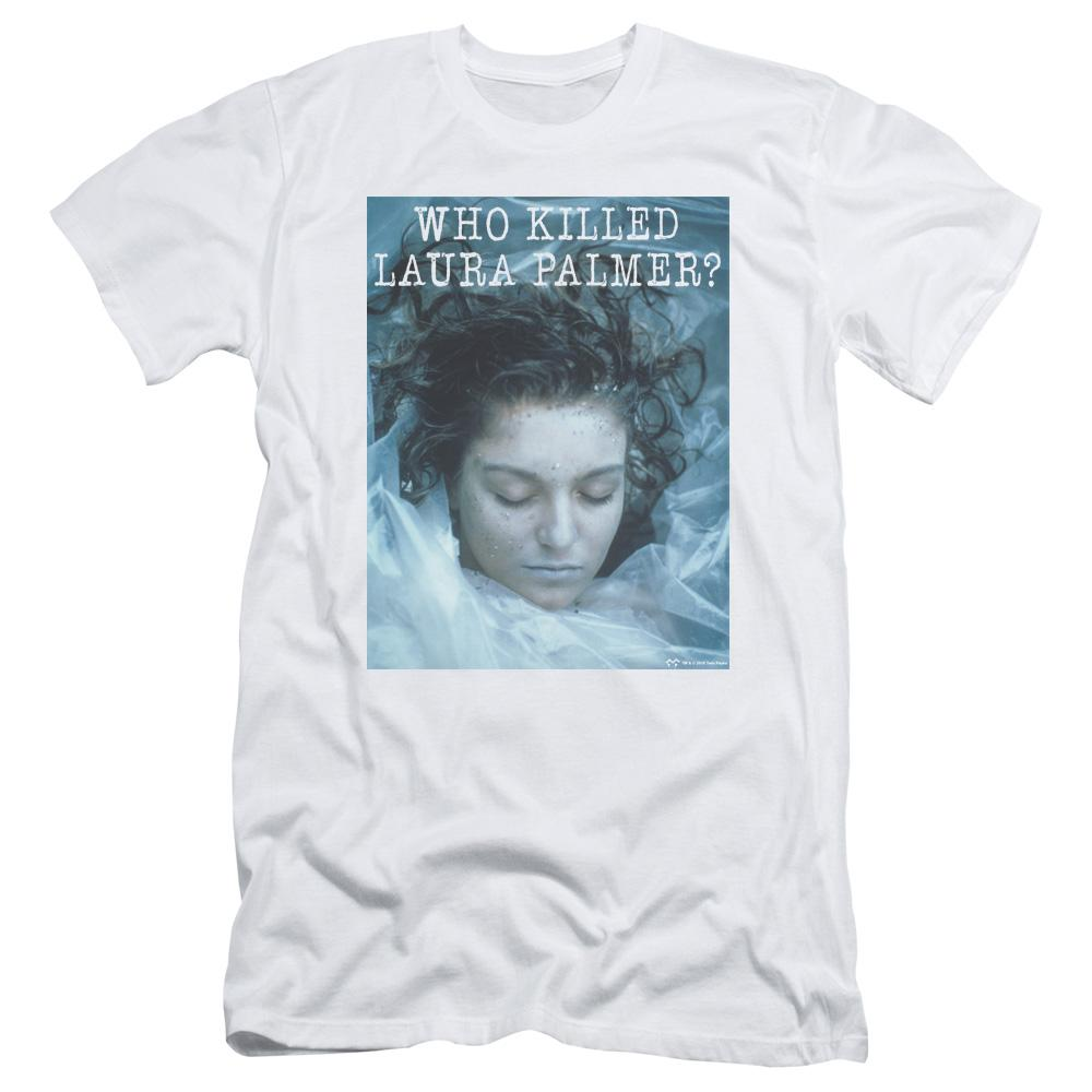 Twin Peaks Who Killed Laura Adult Slim Fit T-Shirt