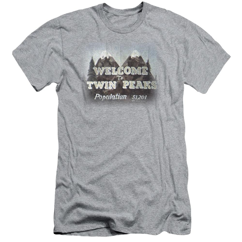 Twin Peaks Welcome To Adult Slim Fit T-Shirt