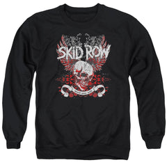 Skid Row - Winged Skull Adult Crewneck Sweatshirt