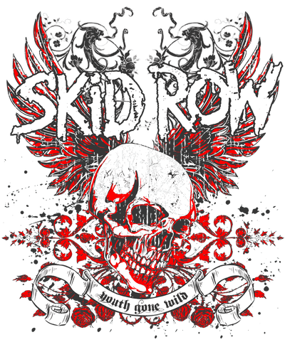 Skid Row Winged Skull Men's Crewneck Sweatshirt
