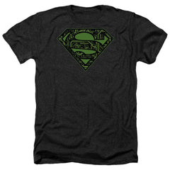 Superman Circuits Shield Adult Regular Fit Heather T-Shirt
