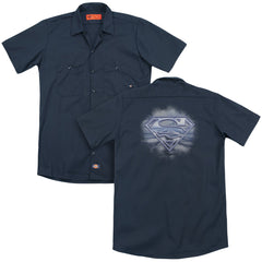 Superman Freedom Of Flight Adult Work Shirt