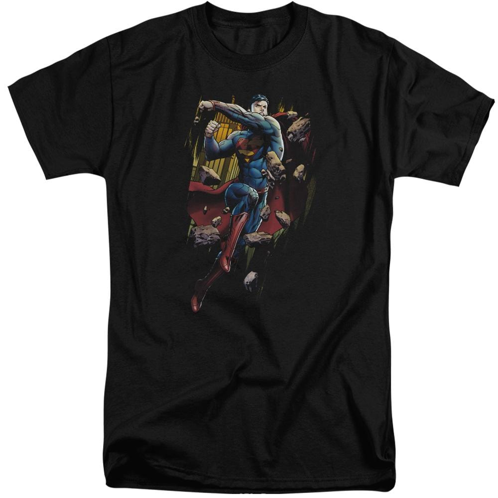 Superman Flying Determination Adult Tall Fit T-Shirt