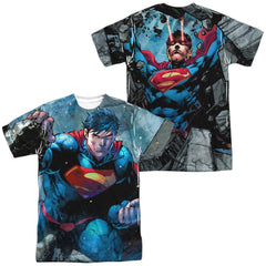 Superman - Rumble Adult All Over Print 100% Poly T-Shirt