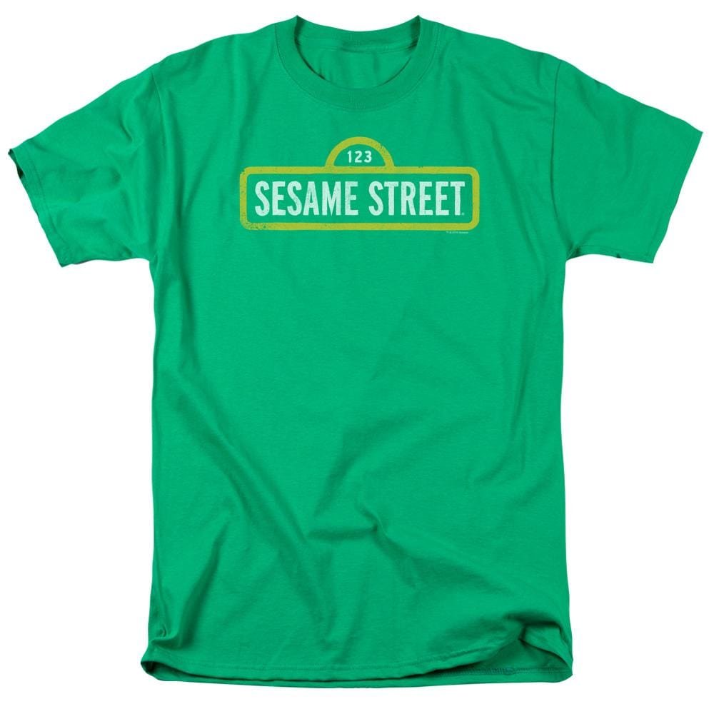Sesame Street - Rough Logo Adult Regular Fit T-Shirt
