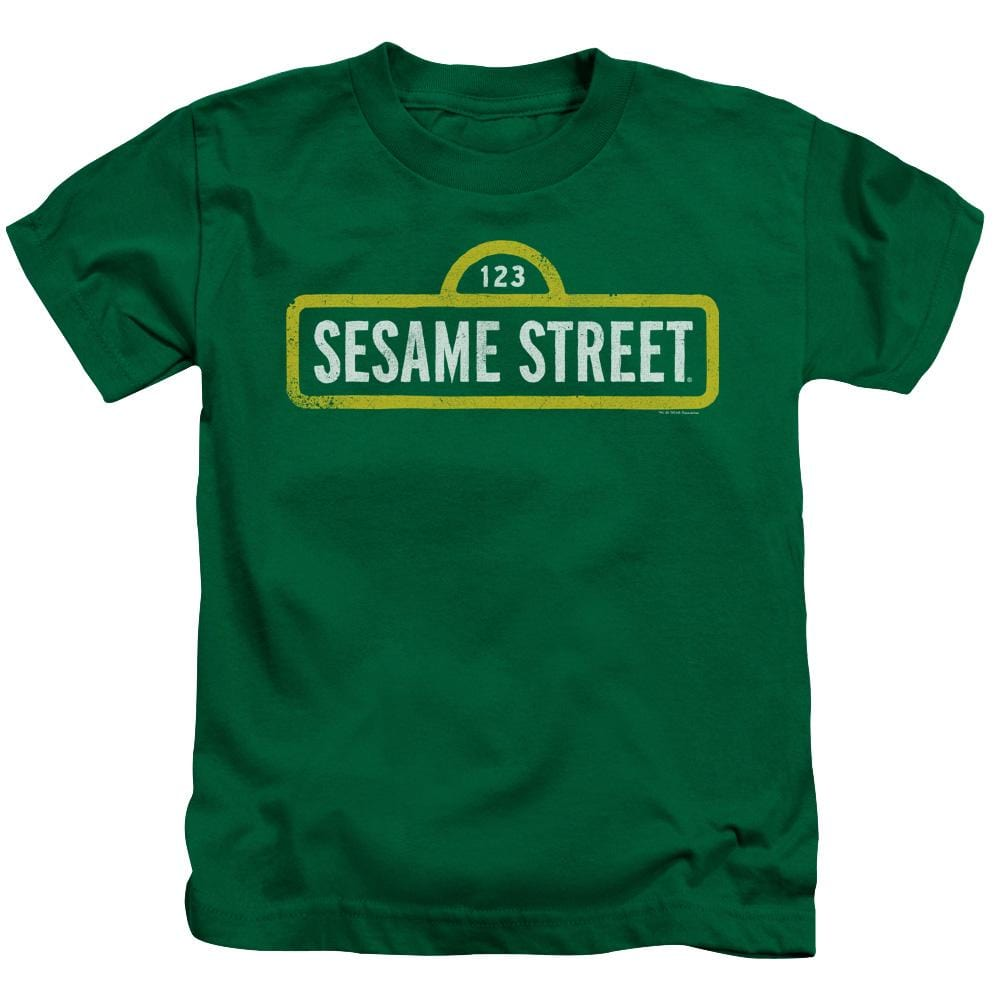 Sesame Street - Rough Logo Kids T-Shirt