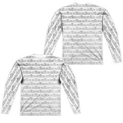 Sesame Street - Bw Pattern Adult Long Sleeve T-Shirt