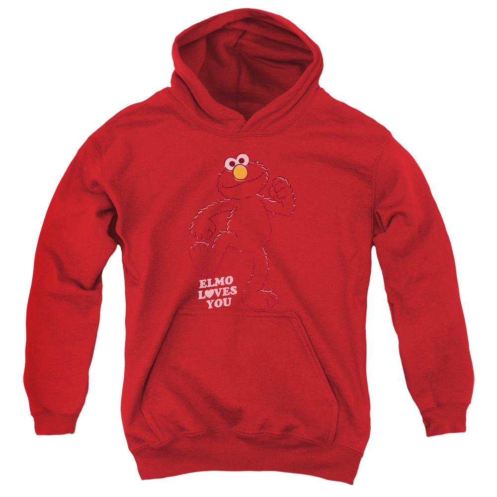 Sesame Street Elmo Loves You Youth Hoodie (Ages 8-12) - Sons