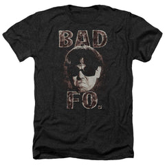 Three Stooges Bad Moe Fo Adult Regular Fit Heather T-Shirt