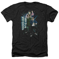 Three Stooges Stooge Style Adult Regular Fit Heather T-Shirt