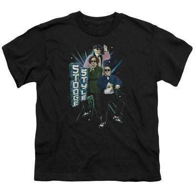 The Three Stooges Stooge Style Youth T-Shirt (Ages 8-12)
