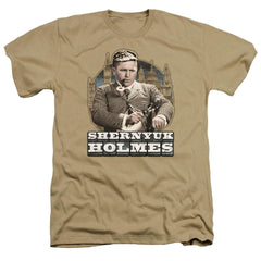 Three Stooges Shernyuk Holmes Adult Regular Fit Heather T-Shirt
