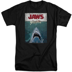 Jaws Lined Poster Adult Tall Fit T-Shirt