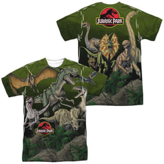 Jurassic Park - Pack Of Dinos Adult All Over Print 100% Poly T-Shirt