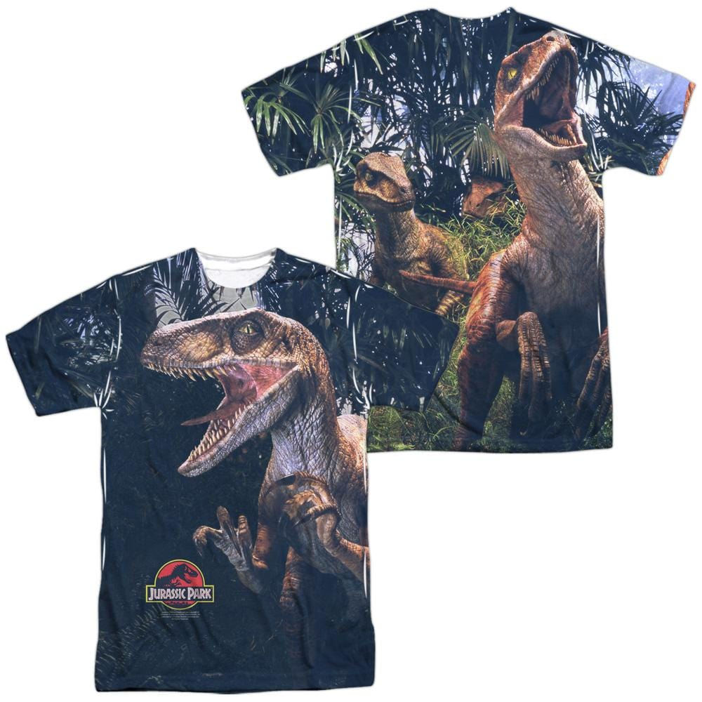 abfc6e48a5fed Product Image Alt. AVAILABLE ON THESE PRODUCTS  Jurassic Park Raptors Men s  All Over Print Tank