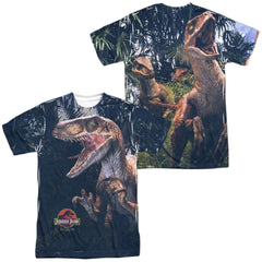 Jurassic Park - Raptors Adult All Over Print 100% Poly T-Shirt