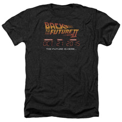 Back To The Future Ii Future Is Here Adult Regular Fit Heather T-Shirt