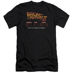 Back To The Future Ii Future Is Here Premium Adult Slim Fit T-Shirt