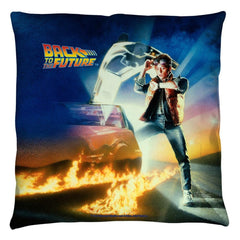 Back To The Future - Bttf Poster Throw Pillow