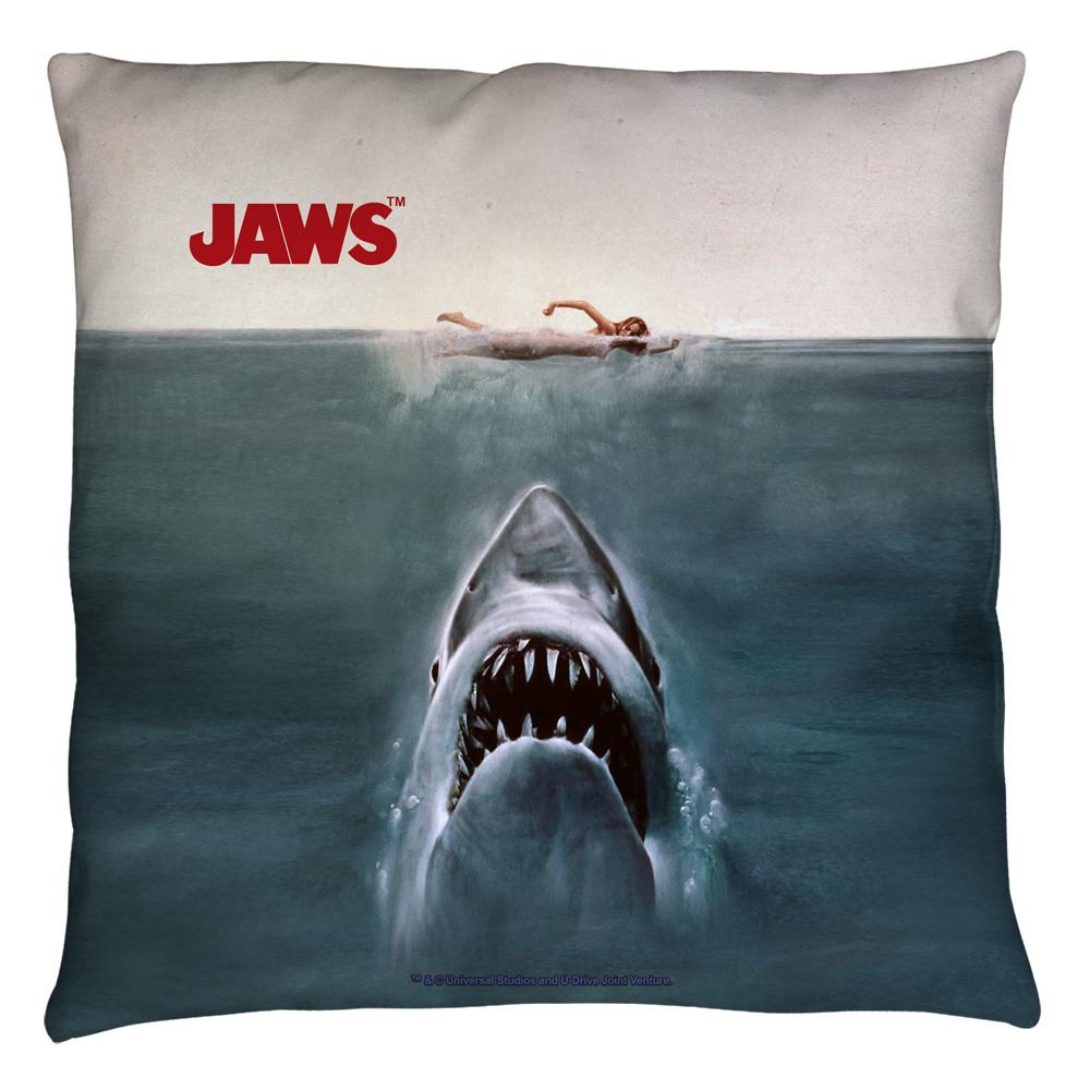 Jaws - Jaws Poster Throw Pillow