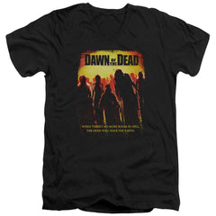 Dawn Of The Dead - Title Adult V-Neck T-Shirt