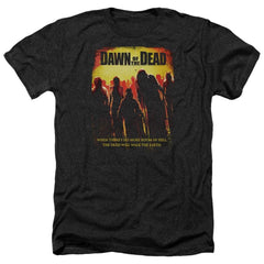 Dawn Of The Dead Title Adult Regular Fit Heather T-Shirt