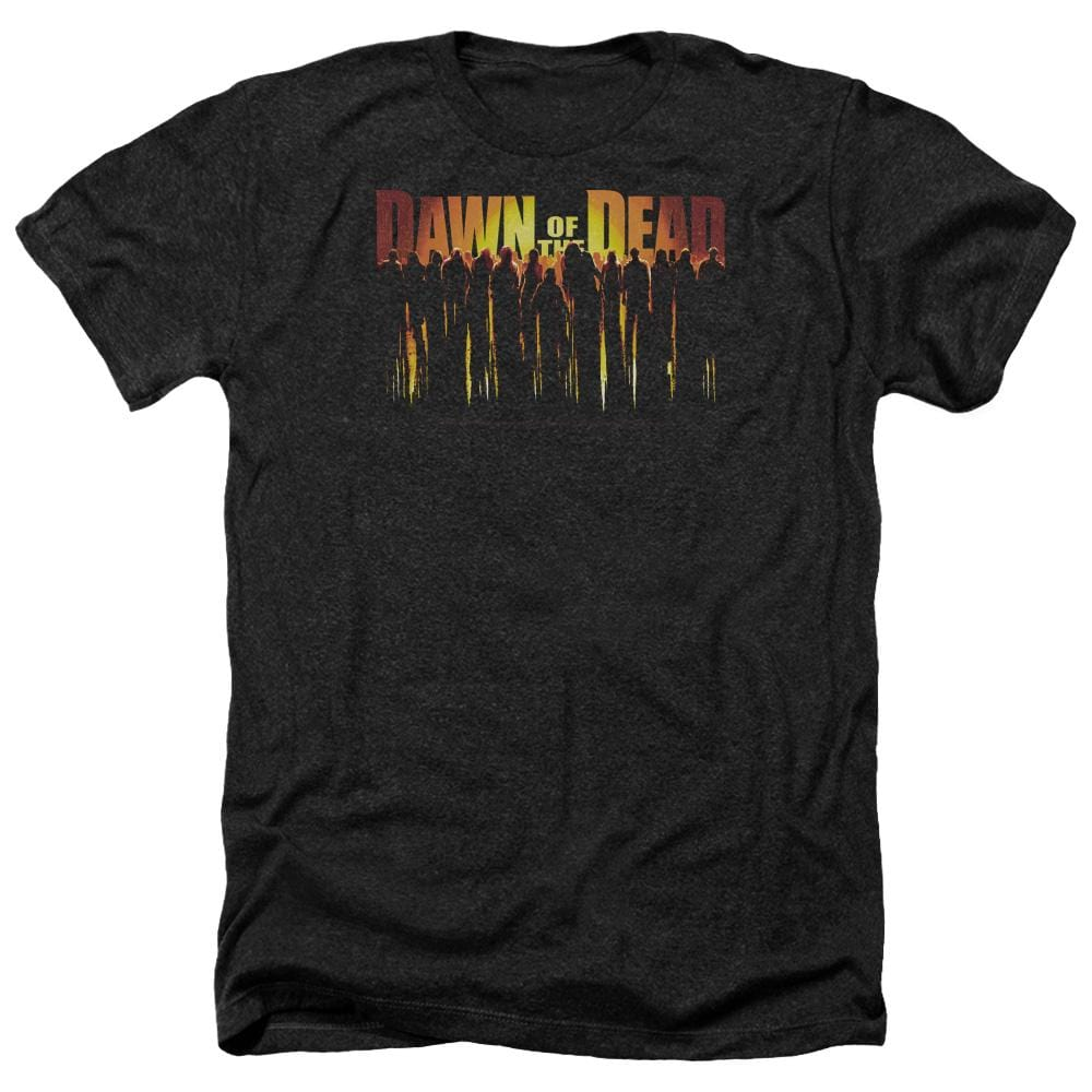 Dawn Of The Dead Walking Dead Adult Regular Fit Heather T-Shirt