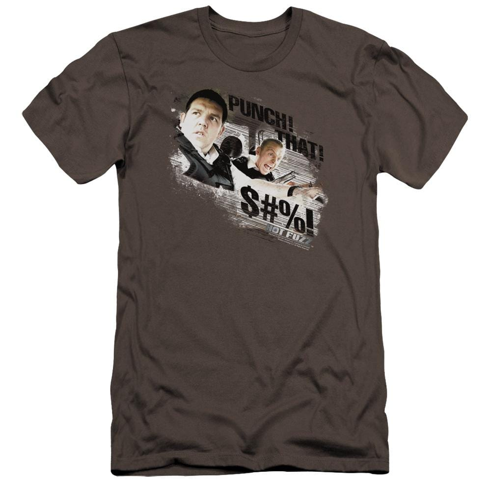 Hot Fuzz Punch That Premium Adult Slim Fit T-Shirt