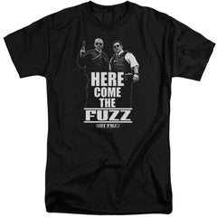 Hot Fuzz Here Come The Fuzz Adult Tall Fit T-Shirt