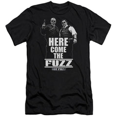 Hot Fuzz Here Come The Fuzz Premium Adult Slim Fit T-Shirt