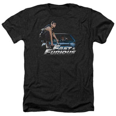 Fast And The Furious Car Ride Adult Regular Fit Heather T-Shirt