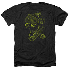 Jurassic Park Rex Mount Adult Regular Fit Heather T-Shirt