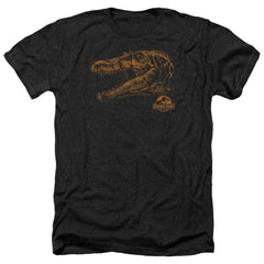Jurassic Park Spino Mount Adult Regular Fit Heather T-Shirt