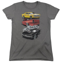 Fast And The Furious Muscle Car Splatter Women's T-Shirt