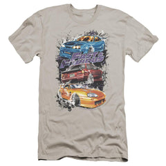 Fast And The Furious Smokin Street Cars Premium Adult Slim Fit T-Shirt