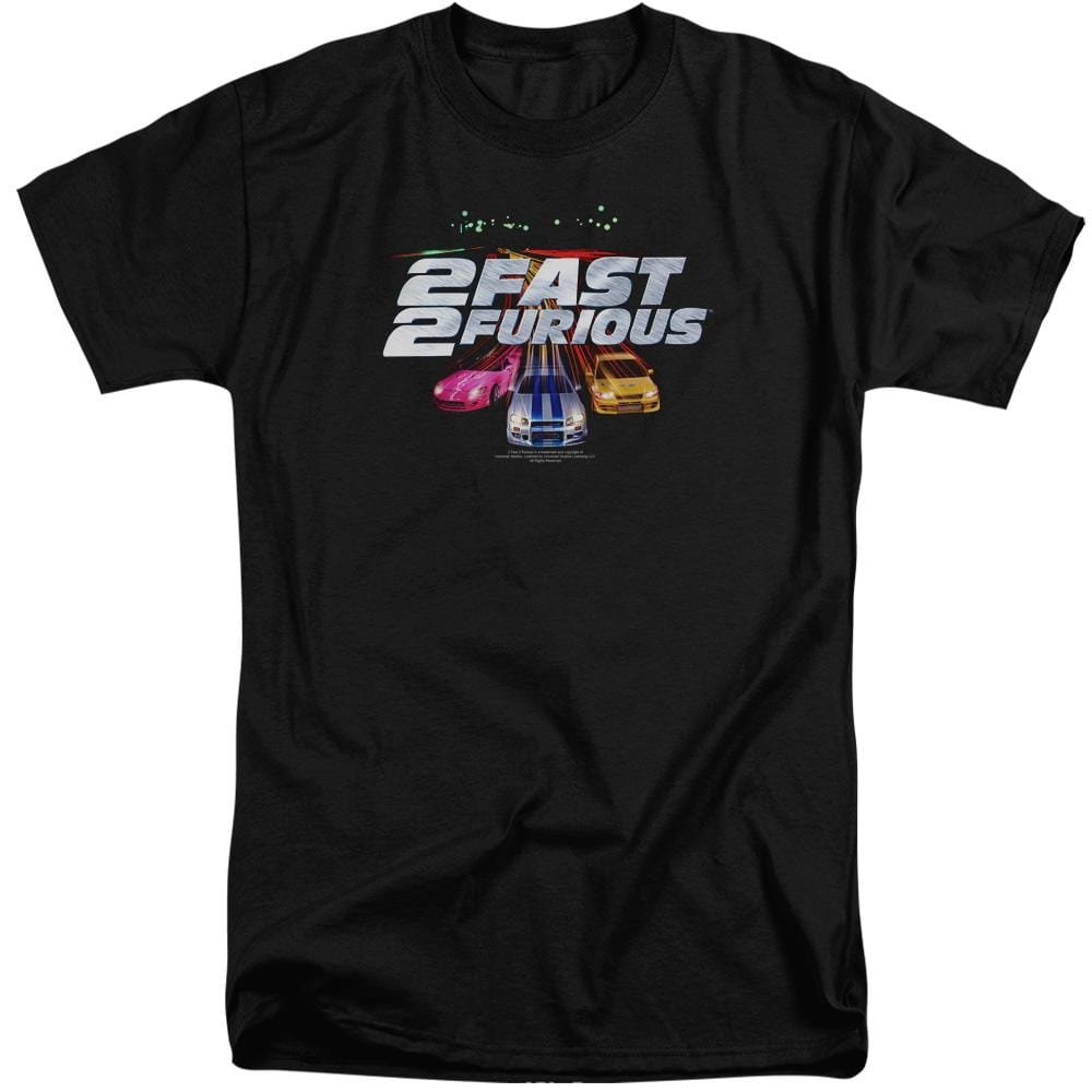 2 Fast 2 Furious Logo Adult Tall Fit T-Shirt