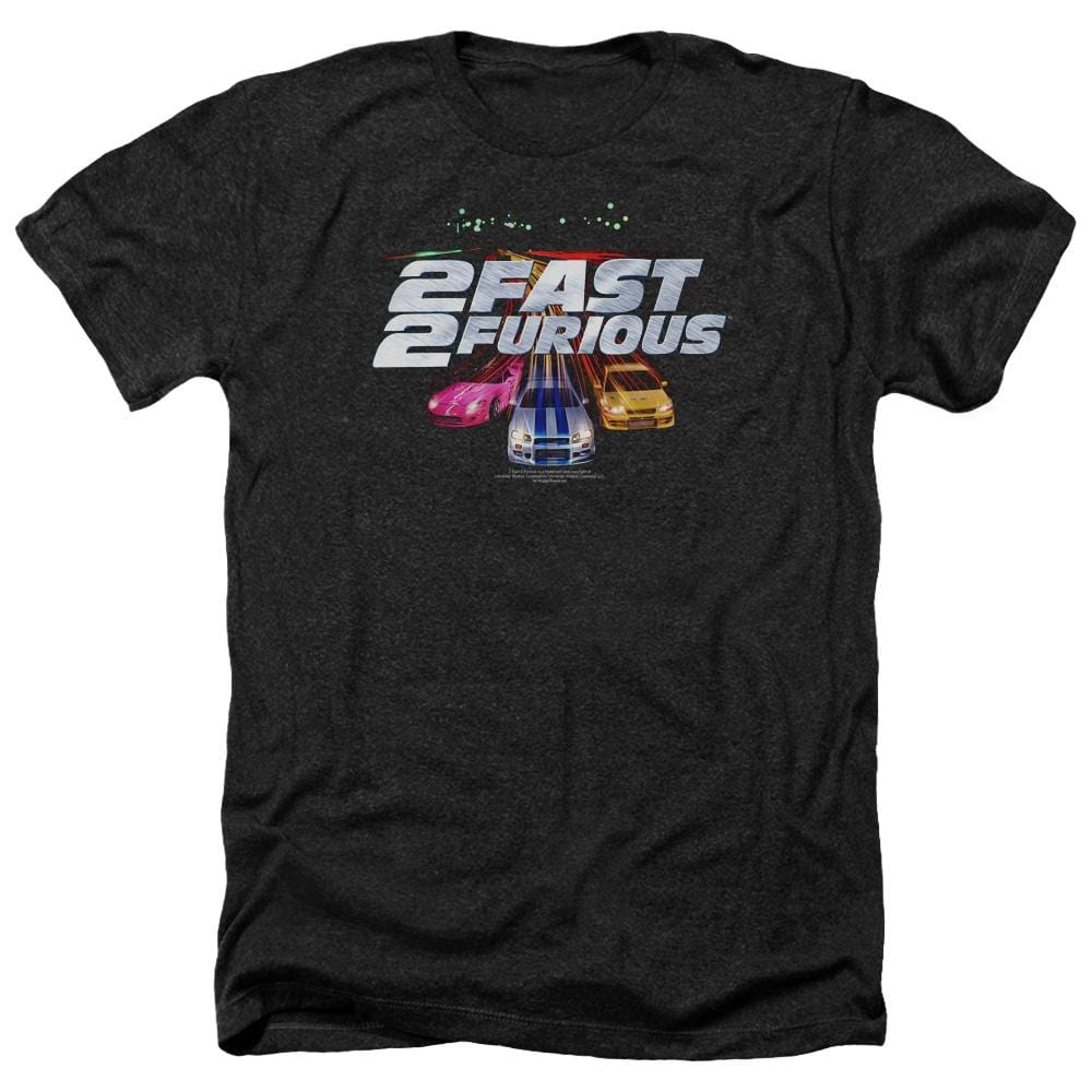 2 Fast 2 Furious Logo Adult Regular Fit Heather T-Shirt