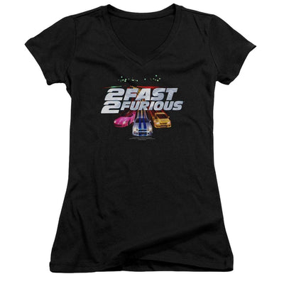 Fast and Furious Logo Juniors V-Neck T-Shirt