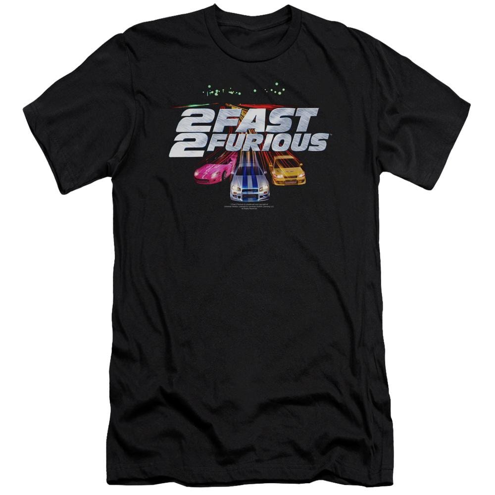 2 Fast 2 Furious Logo Premium Adult Slim Fit T-Shirt