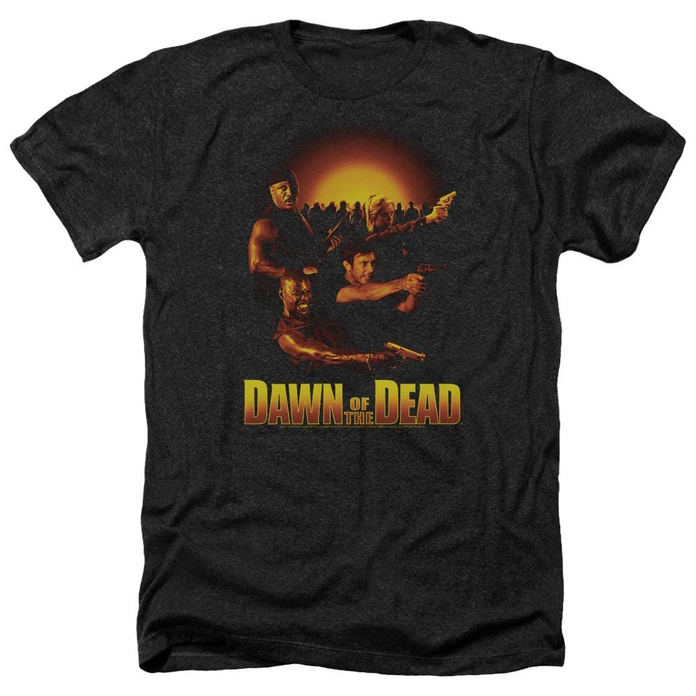Dawn Of The Dead Dawn Collage Adult Regular Fit Heather T-Shirt