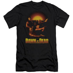 Dawn Of The Dead Dawn Collage Premium Adult Slim Fit T-Shirt