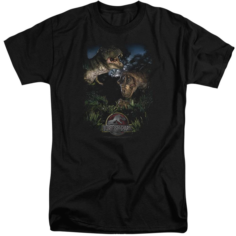 Jurassic Park Happy Family Adult Tri-Blend T-Shirt