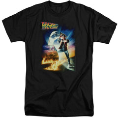 Back To The Future Poster Adult Tri-Blend T-Shirt