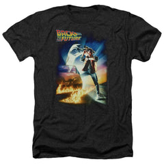 Back To The Future Poster Adult Regular Fit Heather T-Shirt