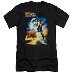 Back To The Future Poster Premium Adult Slim Fit T-Shirt