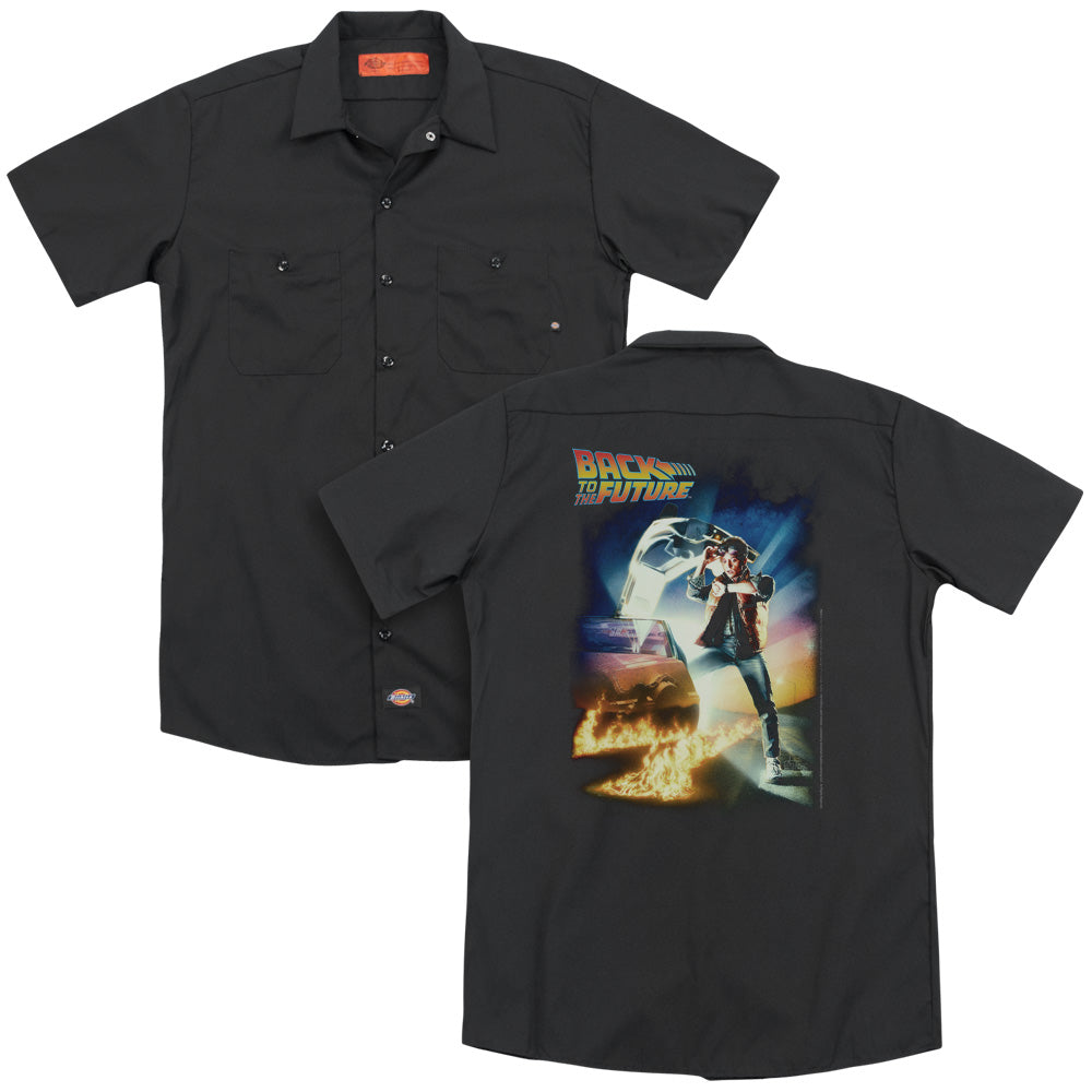 Back To The Future Poster Adult Work Shirt
